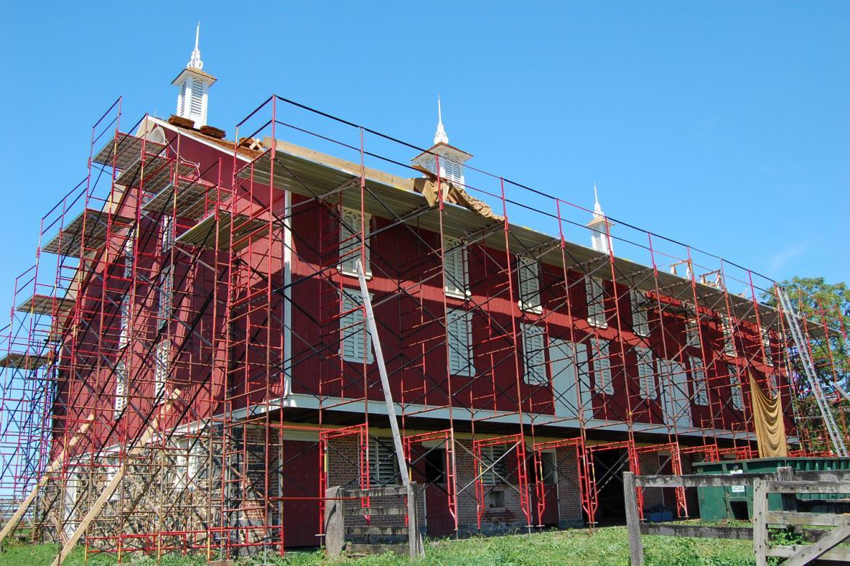 Codori Barn Restoration Roofing Progress Gettysburg Daily