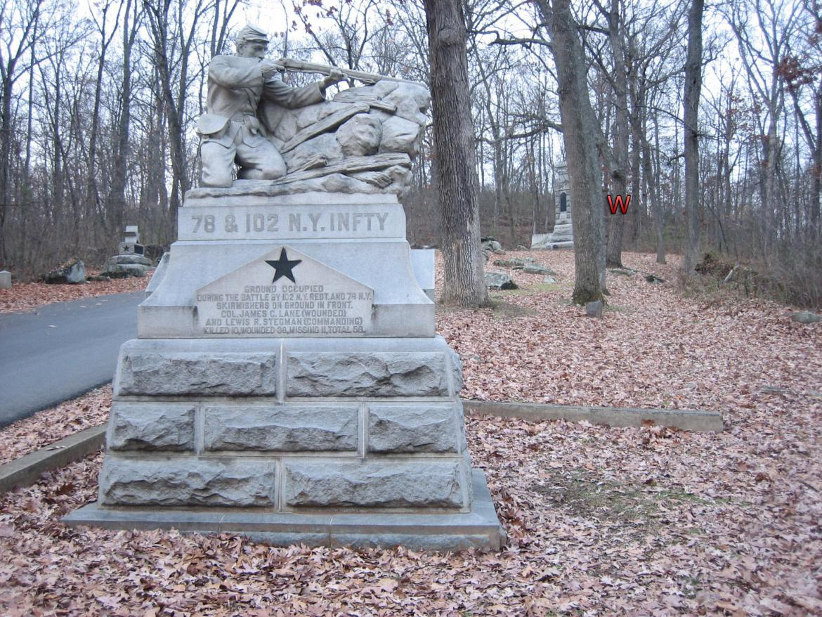 78th and 102nd New York regiment monument