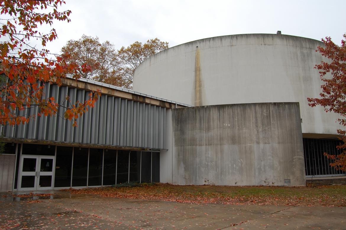 The Gettysburg Cyclorama Building Fencing Removed