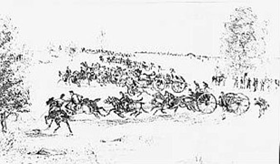 Sketch of the 9th Massachusetts Battery