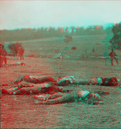 3D version of 'Federal Dead on the Field of Battle of First day, Gettysburg, Pennsylvania'