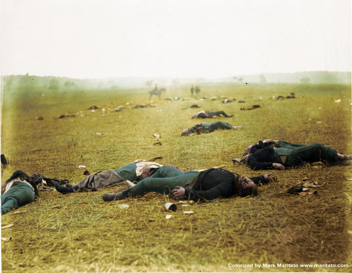 Colorized version 'A Harvest of Death'