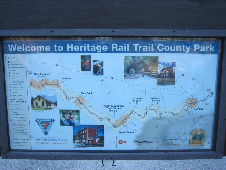 Heritage Rail Trail wayside