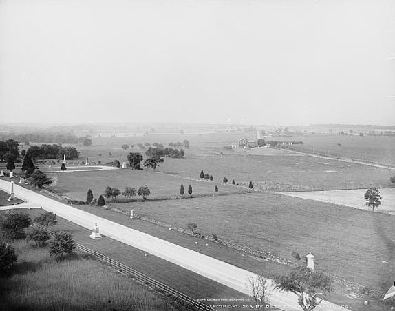 View of Pickett's Charge from Ziegler's Grove