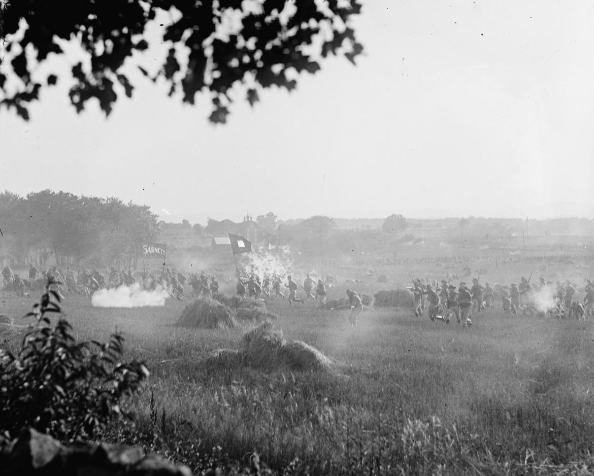 Marines re-enacting Pickett's Charge
