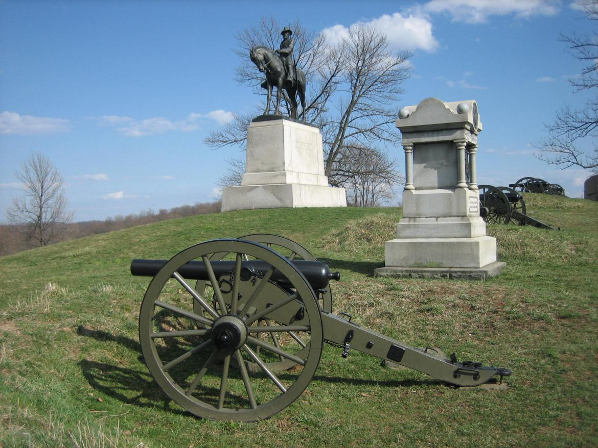 howard statue on east cemetery hill gettysburg daily