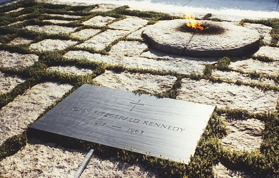 Eternal Flame on President Kennedy's grave