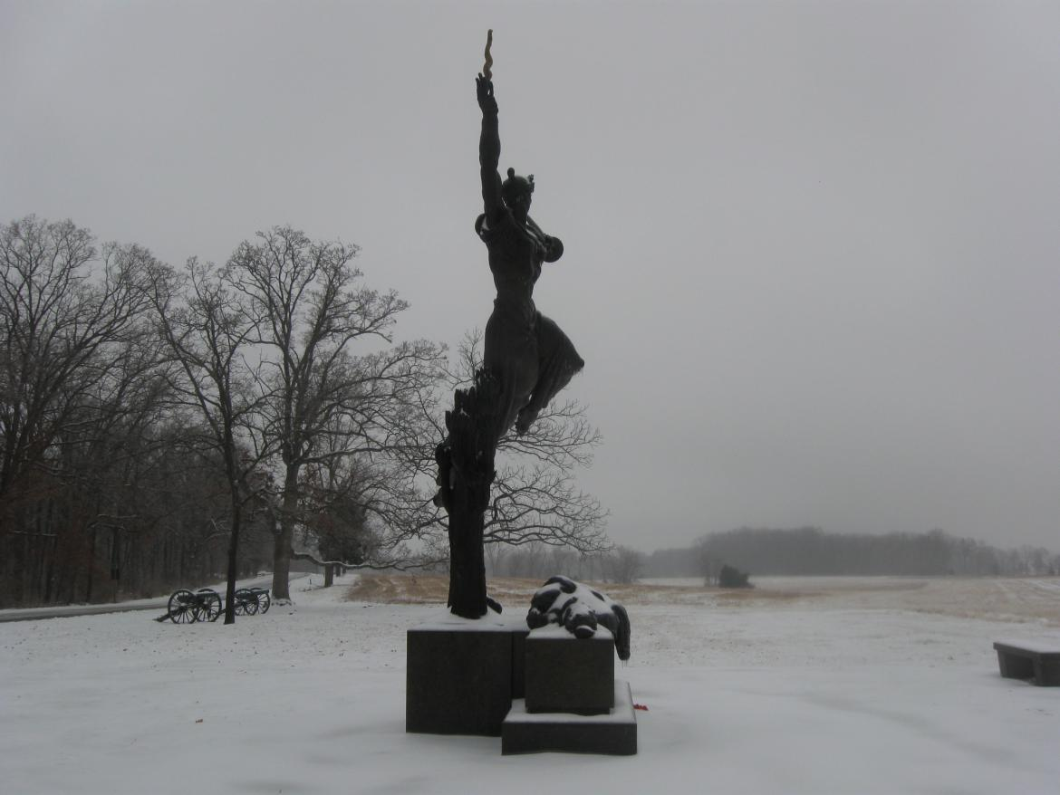 Louisiana State Monument from the north