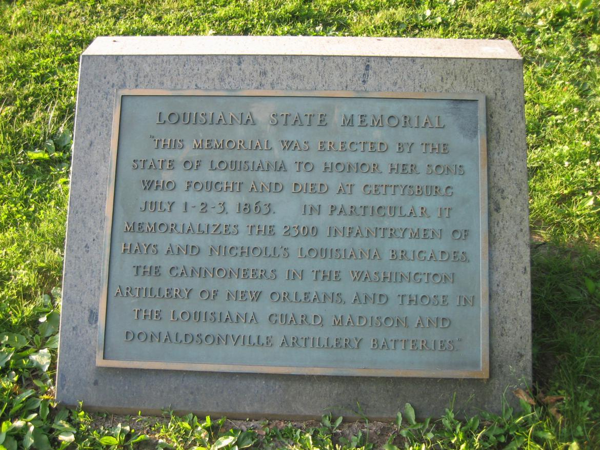 Louisiana Monument marker