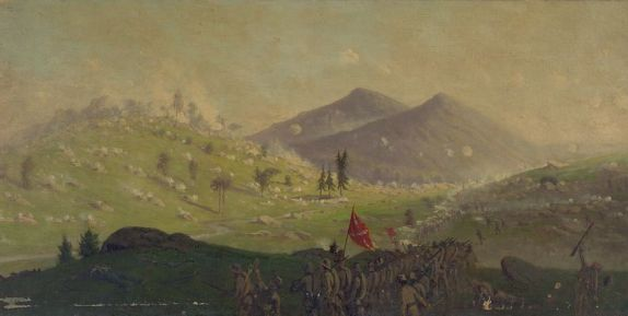 Painting, Attack on Little Round Top