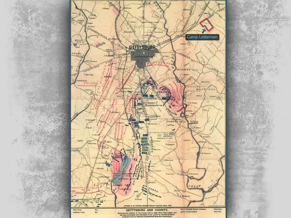 Map of the Gettysburg Battlefield
