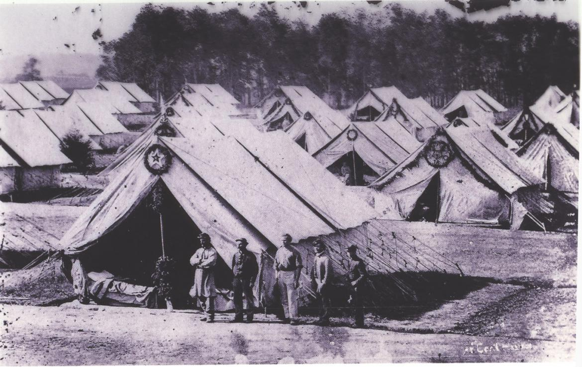 Tents at the camp