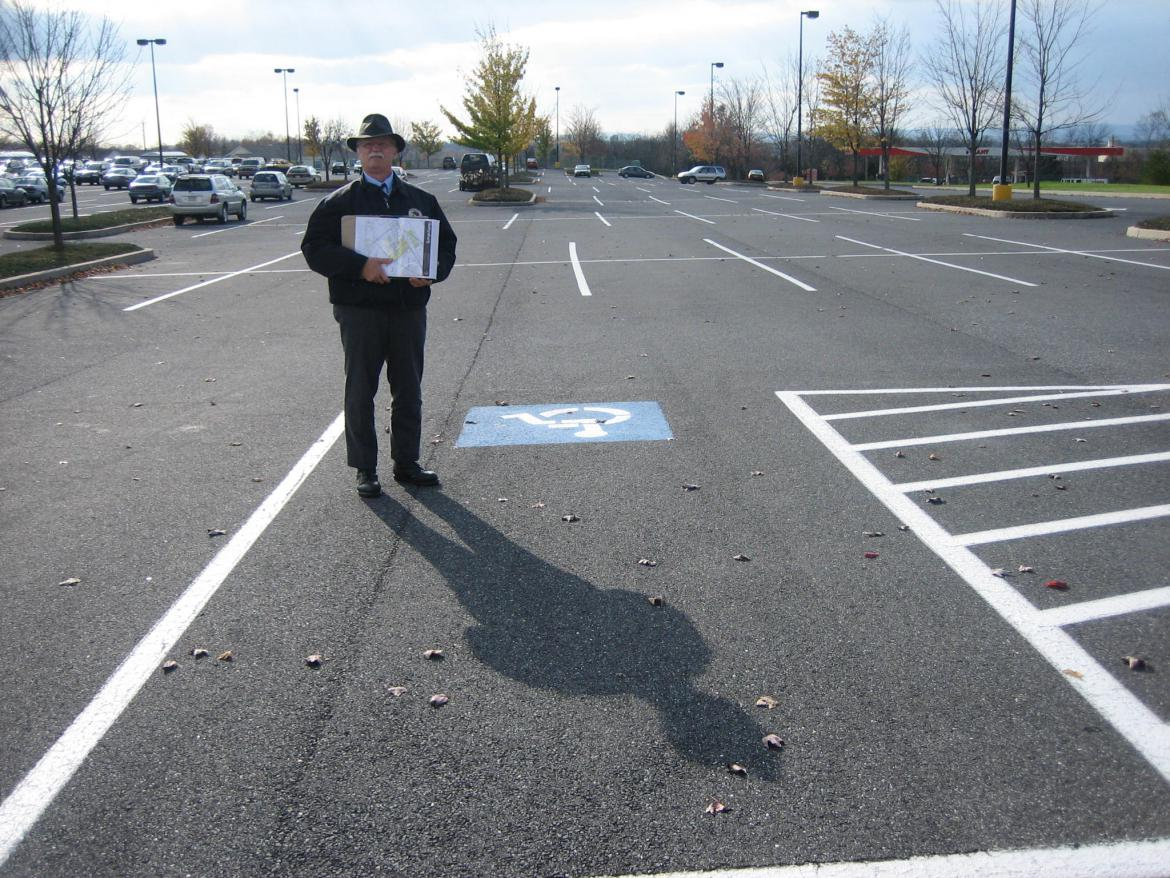 Phil Lechak in Giant parking lot