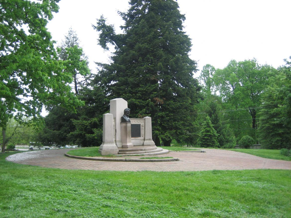 Left side of the memorial
