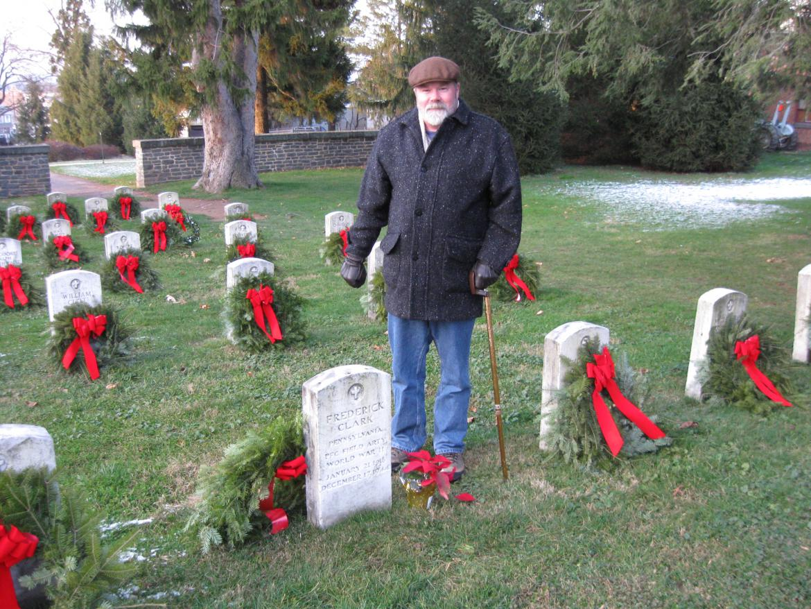 Stuart Dempsey in the Gettysburg National Cemetery