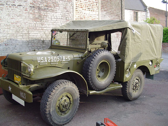 Restored Dodge WC51 3/4 ton weapons carrier