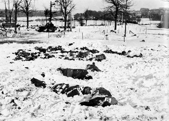 Identified bodies at the Malmedy Massacre