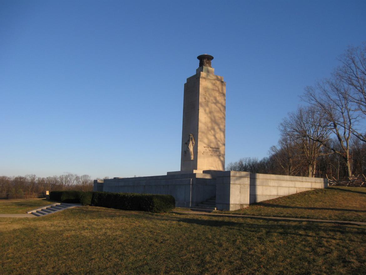 Northwest view of the Peace Light