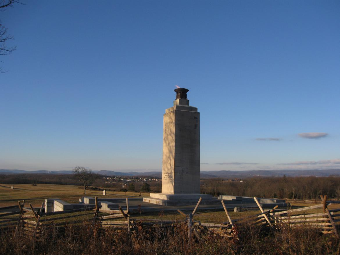 Southwest view of the Peace Light