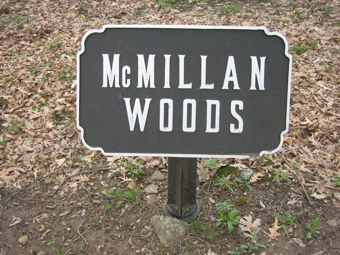 McMillan Woods sign