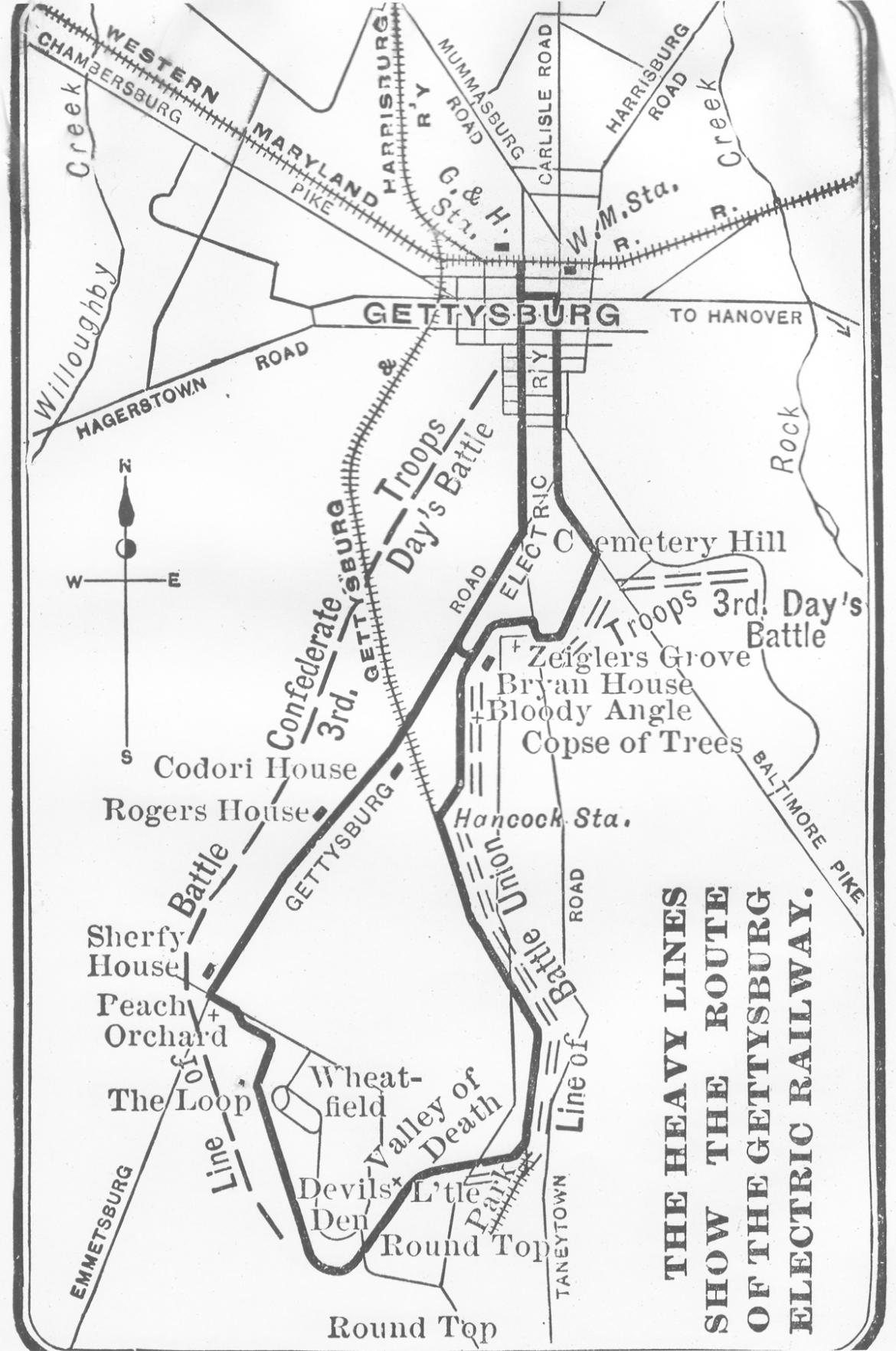 Proposed trolley route