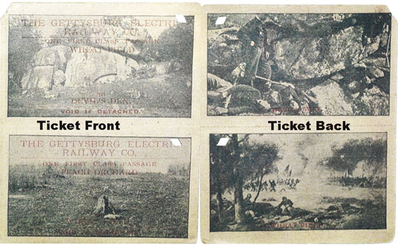 Both sides of Electric Trolley ticket