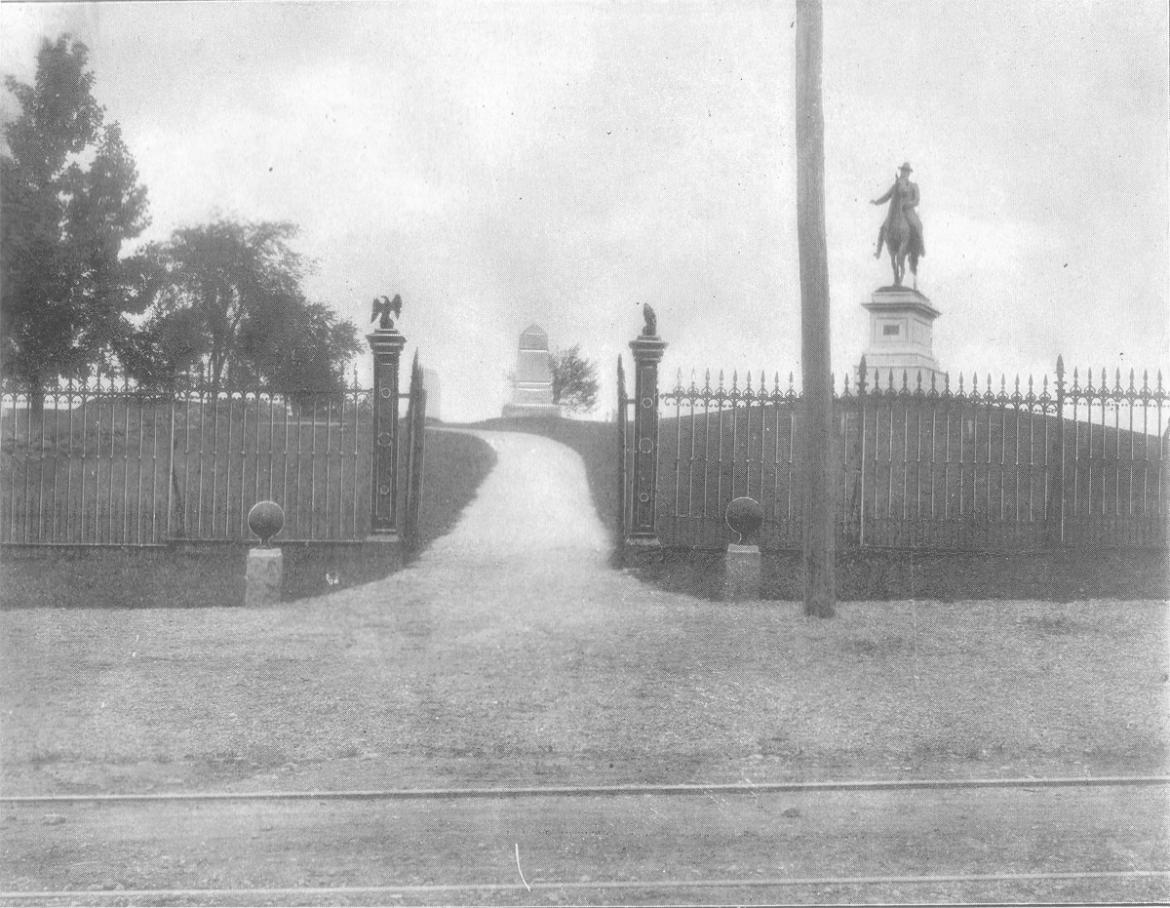 Historic entrance to Cemetery Hill